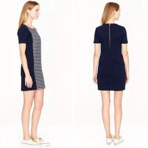 J. CREW || Striped Knit Shift Dress
